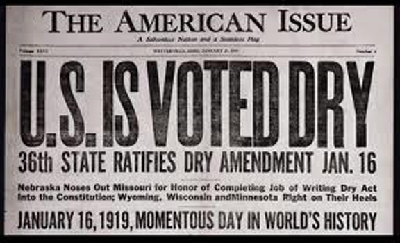 U.S Voted Dry