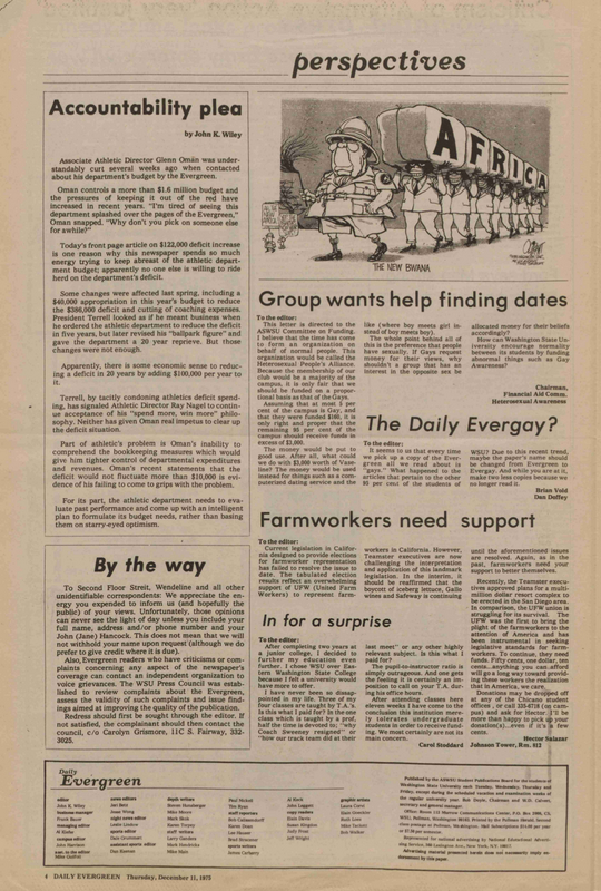Evergreen, 1975-12-11 pg 4-a