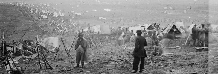 Confederate camp outside Nashville, TN. Winter 1864.