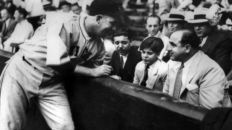 Al Capone at the Chicago Cubs Game in 1931