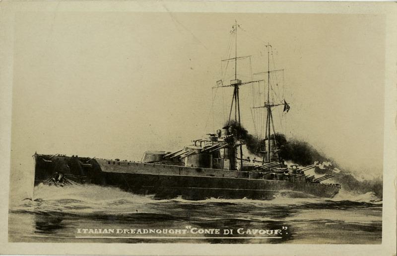 Battleship Conte Di Cavour postard