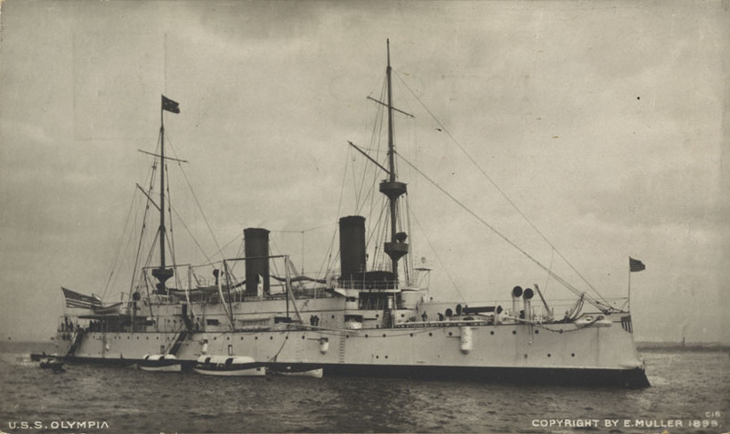 U.S.S. Olympia postcard