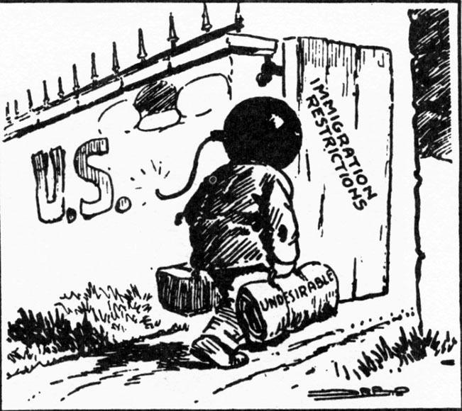Political Cartoon on Immigration, c. 1920s