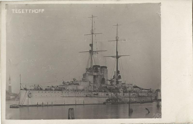 Battleship Tegetthoff postcard