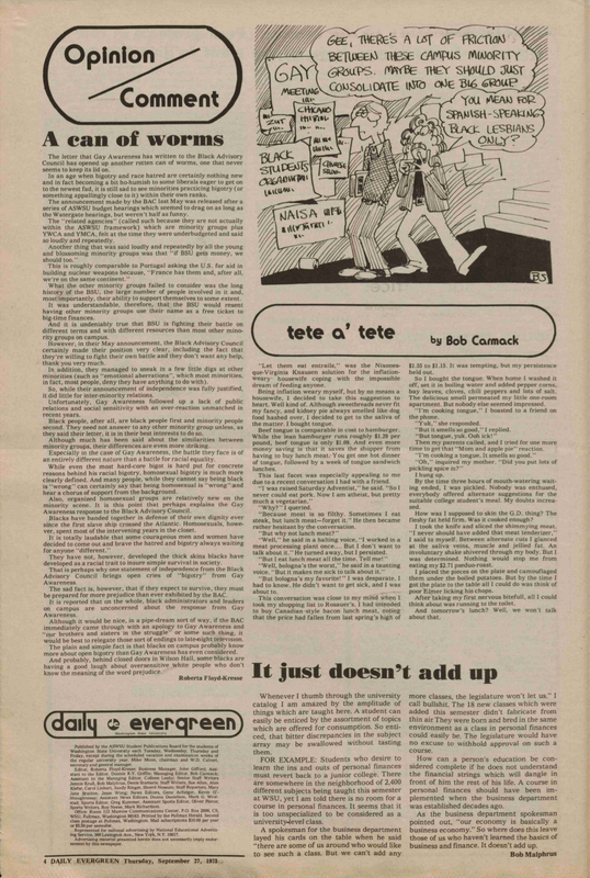 Evergreen, 1973-09-27 pg 4