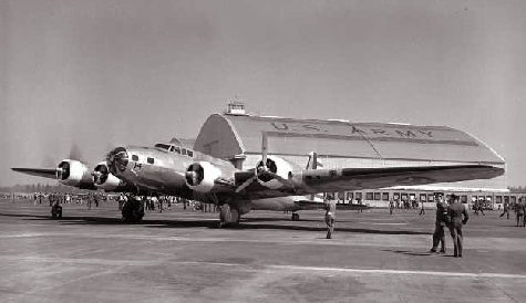 B-17B Flying Fortress at McChord Field