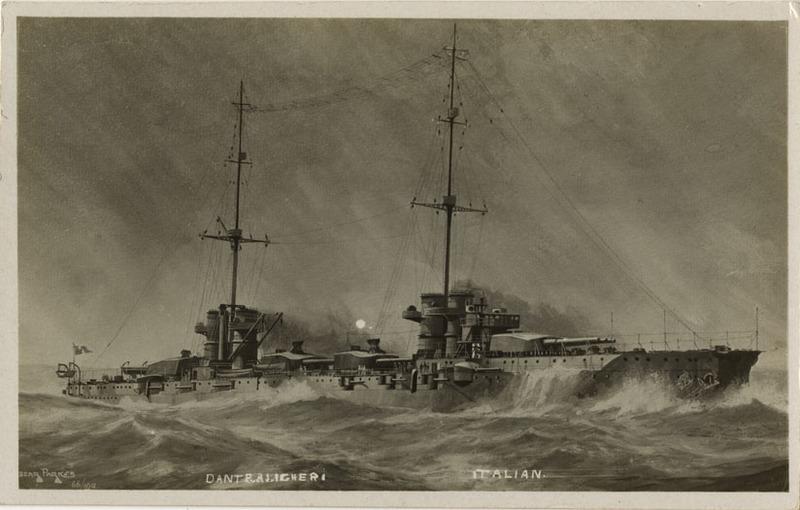 Battleship Dante Aligheri postcard