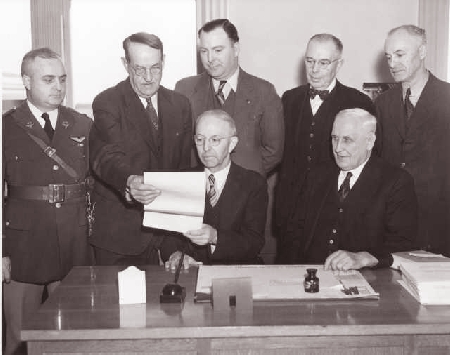 The Hand Over of Tacoma Field to the US Army Air Corps