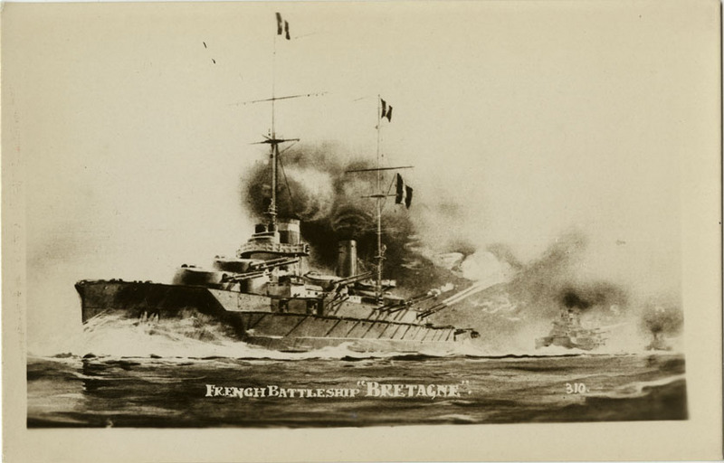 Battleship Bretagne postcard
