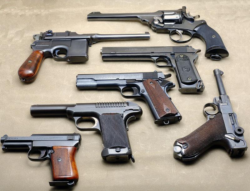 WW1 Pistols