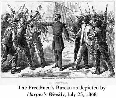 Freedman's Bureau's difficulties during Reconstruction