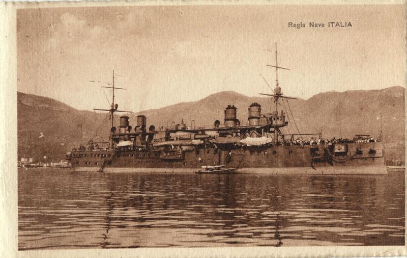Battleship Italia postcard