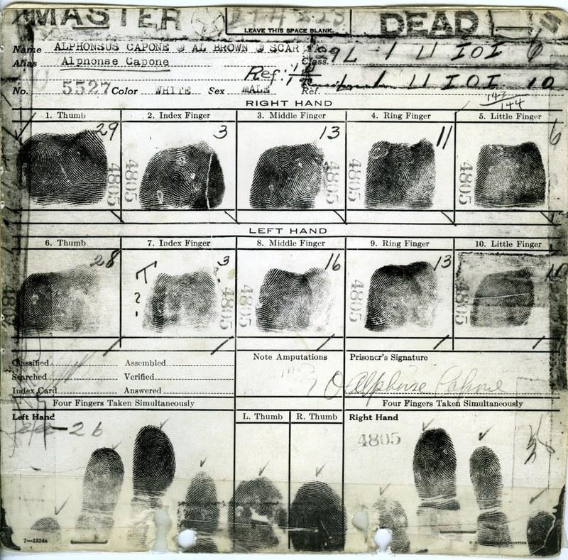 Al Capone's Fingerprints