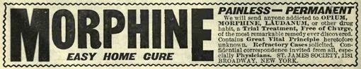 Morphine Advertisement