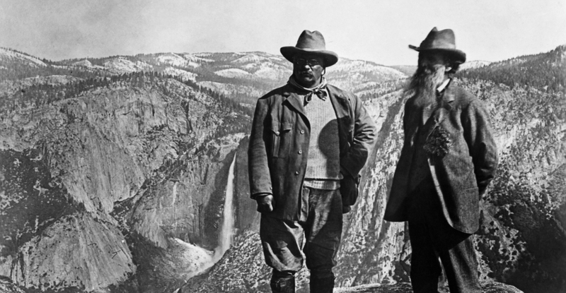 John Muir and President Theodore Roosevelt at Yosemite National Park