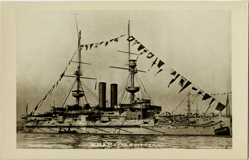H.M.S. Royal Sovereign postcard