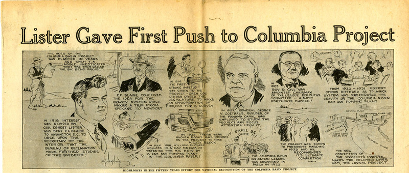 Lister Gave First Push to Columbia Project