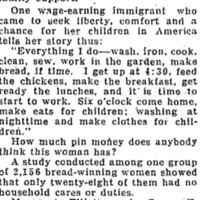 Section of the Seattle Daily Times, Do Women Work Only for Pin Money? by Nell Ray Clarke. March 13, 1932