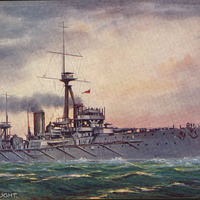 H.M.S. Dreadnought postcard