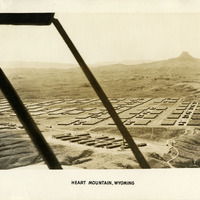 Aerial photograph of Heart Mountain Relocation Center