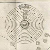 Charts illustrating a geocentric universe