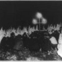 Ku Klux Klan assembled to receive candidates for membership