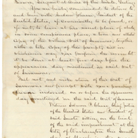 Writ of Summons by Chief Justice Samuel P. Chase