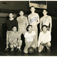 The Independents, an intramural basketball team from Washington State College