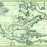 A new map of North America : shewing its principal divisions, chief cities, townes, rivers, mountains, &c.