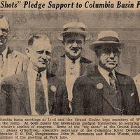 """Big Shots"" Pledge Support to Columbia Basin Project"