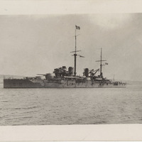 Battleship Courbet postcard