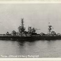 U.S.S. Texas postcard
