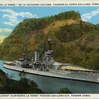 Battleship Almirante La Torre postcard