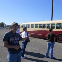 Kearby and the Hanford Bus