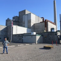 Dr. Jeff Sanders outside B Reactor