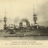 Battleship Jaureguiberry postcard