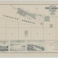 Town of Port Angeles, Washington, with additions, (1890)