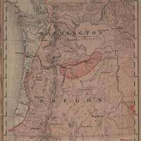 Mean temperature in degrees Fahrenheit, summer, June - August [Washington and Oregon], 1888