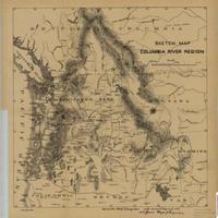 Sketch map, Columbia River region (1885)