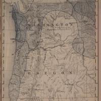 Mean seasonal rainfall in inches, dry season, May - September [Washington and Oregon], (1888)