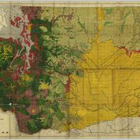 Map of Washington showing classification of lands, (1902)
