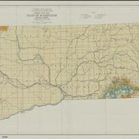 Forest type map, state of Washington, SE sheet (1936)