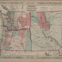 Johnson's Washington, Oregon and Idaho, (1863)